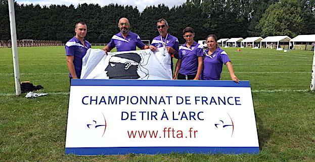 L'ASPTT Bastia  brille aux championnats de France de tir à l'arc