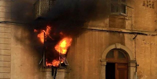 Incendie dans le centre-ville d'Ajaccio