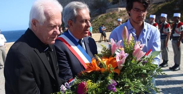 74e anniversaire de la libération de la Corse à Calvi : Cérémonie à la stèle du Bataillon de choc
