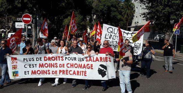 Bastia : Nouvelle mobilisation contre les Ordonnances Macron