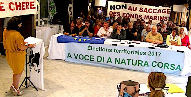 "Elections Territoriales : ""A voce di a natura corsa"" présente sa liste à Biguglia"