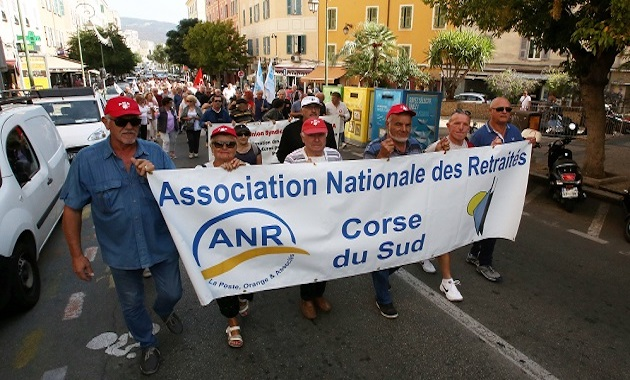 Ajaccio : Les retraités ont manifesté contre la hausse de la CSG