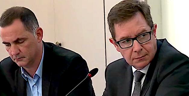 Gilles Simeoni et le préfet de Corse Bernard Schmeltz