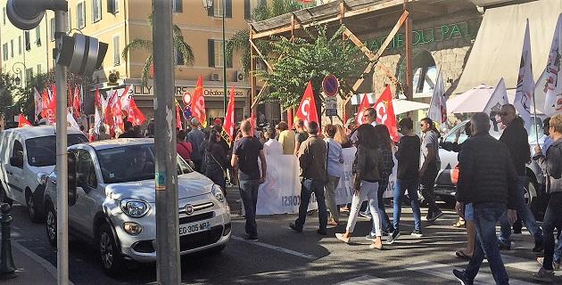 Ajaccio : La protestation de la gare à la préfecture…