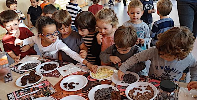 Bastia : Le chocolat du Salon expliqué à l'école Modeste-Venturi