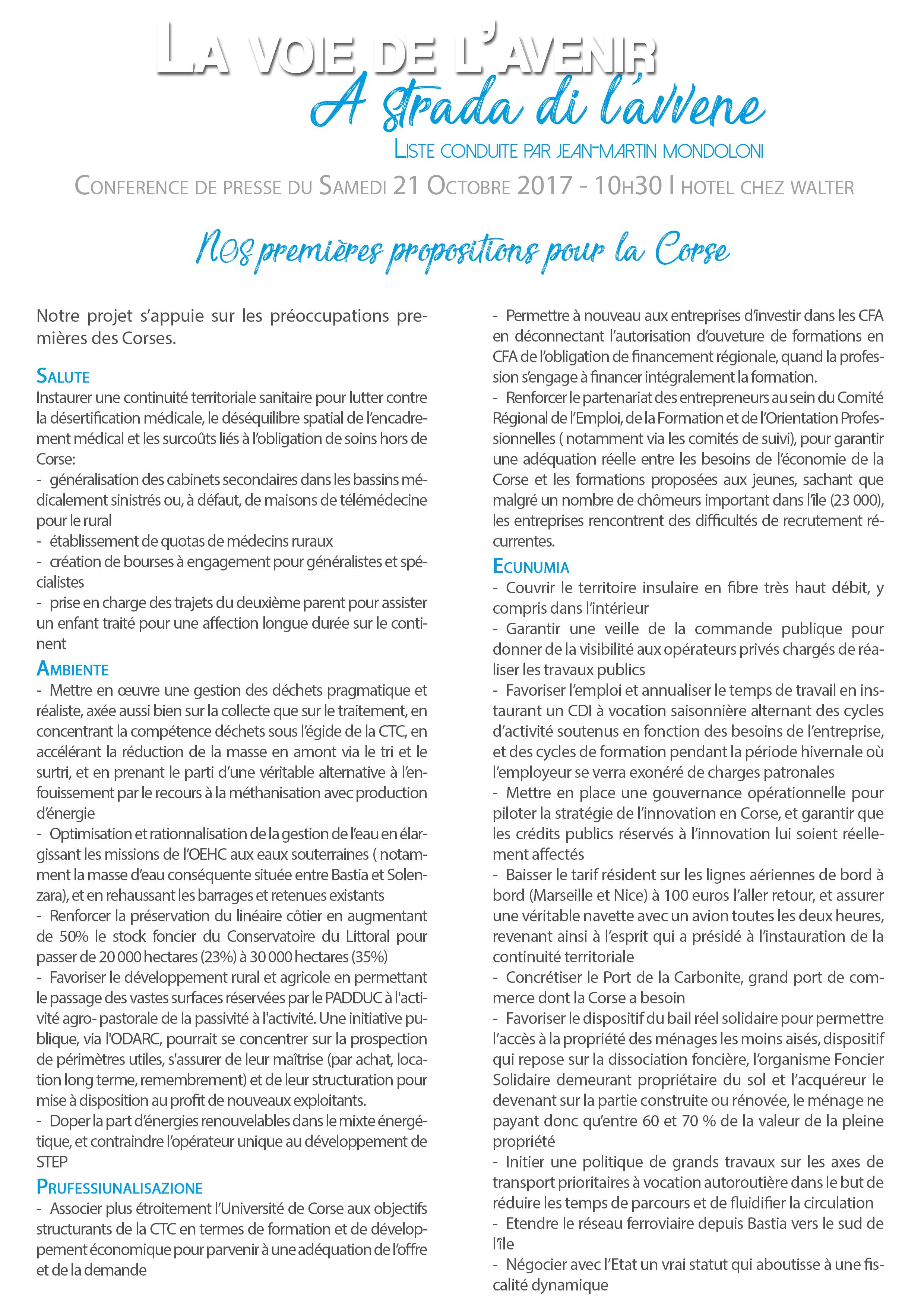 Territoriales : Jean-Martin Mondoloni dévoile les prémices de sa liste et de son projet