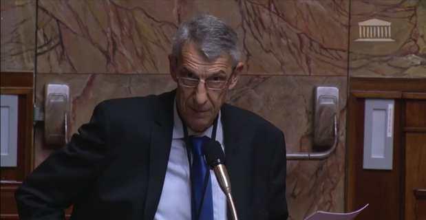 Michel Castellani, député de la 1ère circonscription de Haute-Corse, lors de son intervention à l'Assemblée nationale.