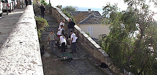 """Bastia : Les collégiens de Saint-Joseph rénovent """"A Falata di Ficaghjola"""" !"""