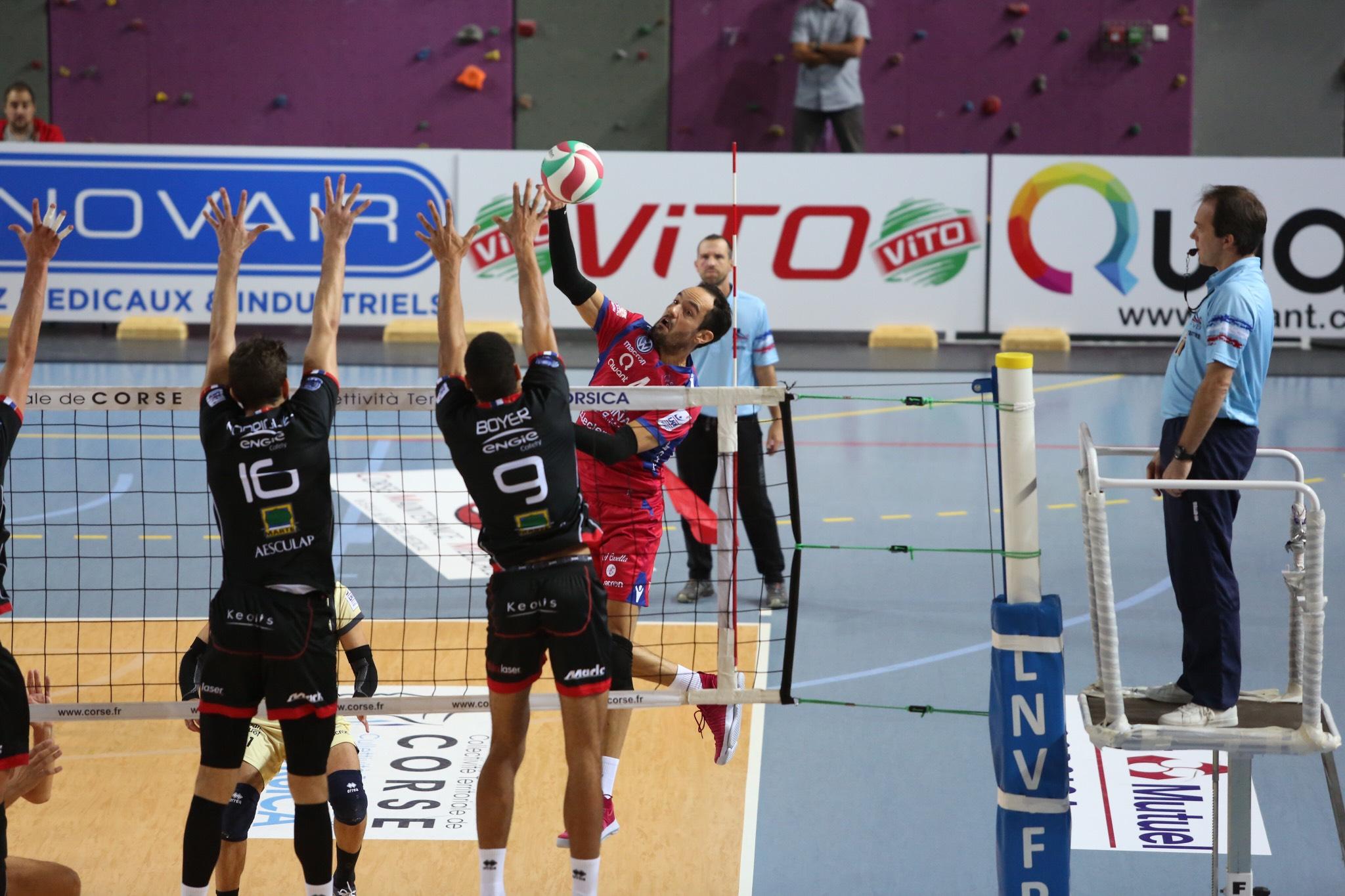Volley : Ajaccio bute sur Chaumont (0-3)