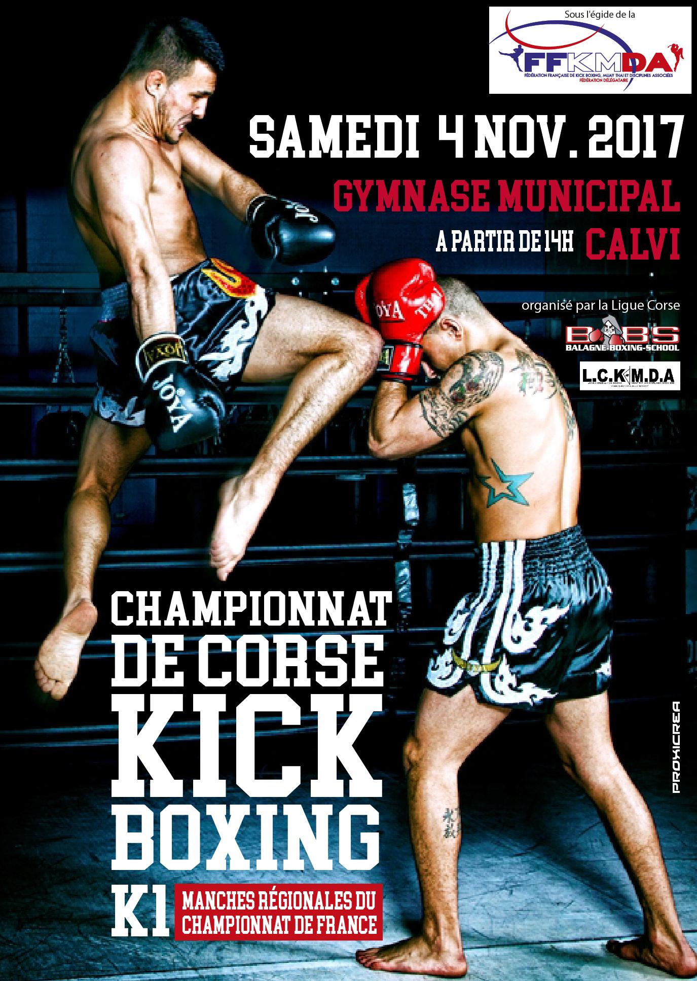 Championnats de Corse de kick Boxing samedi à Calvi
