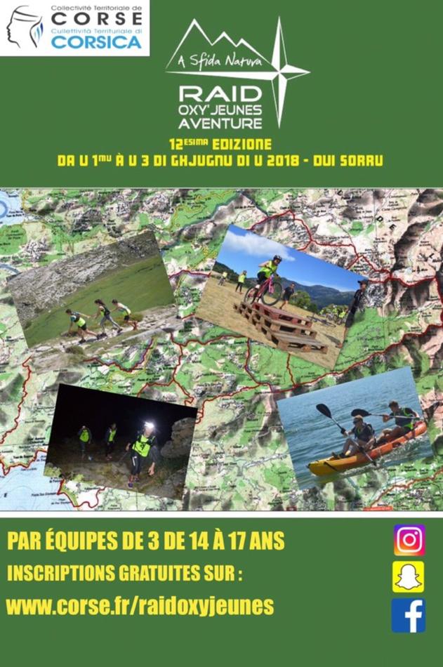 Raid Oxy'Jeunes Aventure – A Sfida Natura : Les inscriptions ouvertes