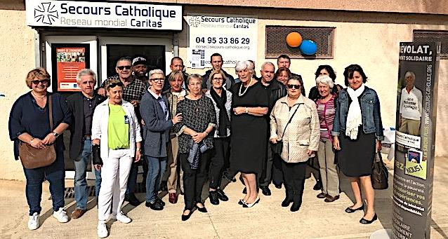 Bastia : Le Secours Catholique a inauguré ses nouveaux locaux