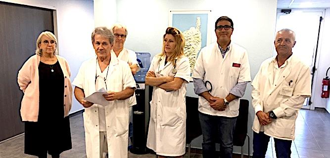 Autour de leur président Jacques Amadei, les membres de la CME de l'hôpital de Bastia ont tenu à rassurer la population