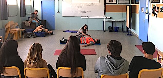 Journée de la sécurité: Les collégiens des Padule ont été initiés aux gestes de premiers secours