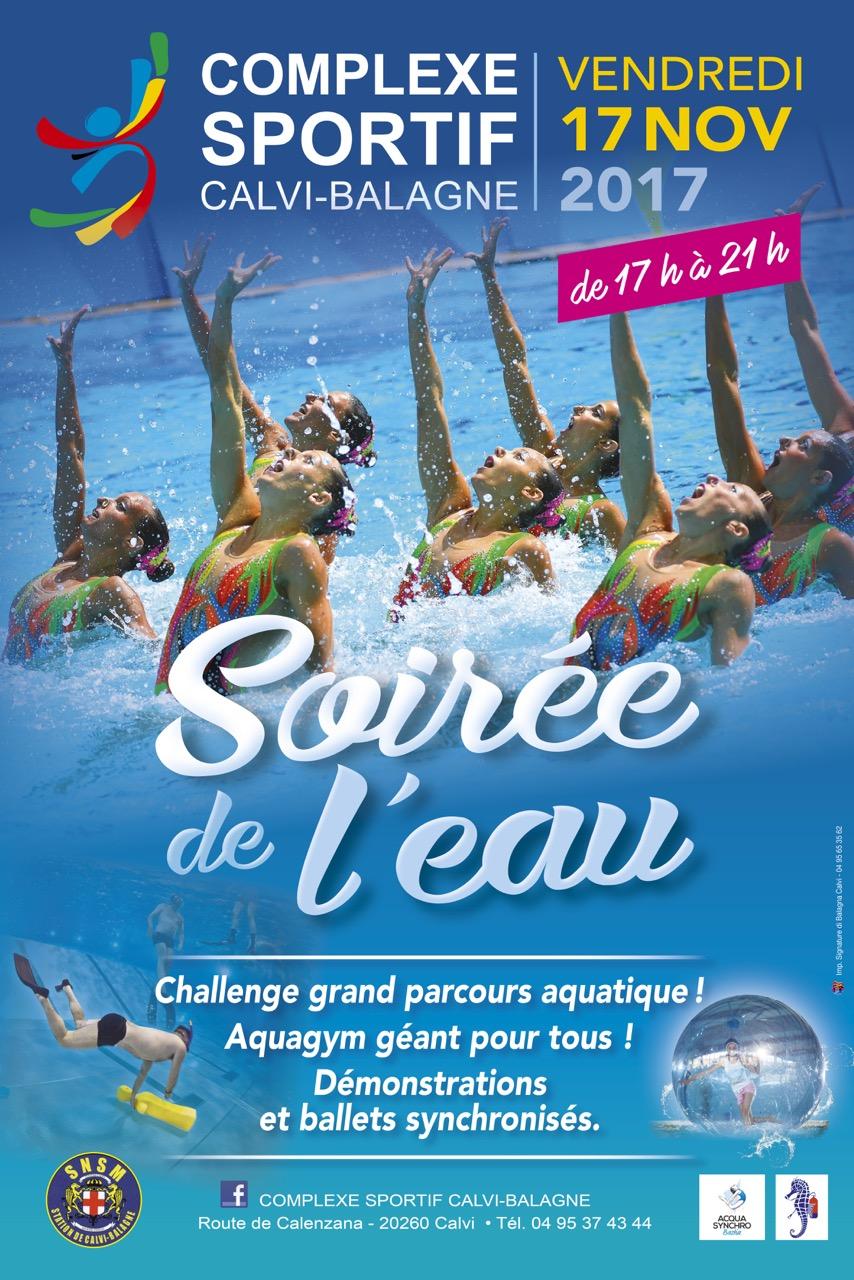 Soirée de l'eau le 17 novembre au Complexe Sportif Calvi-Balagne