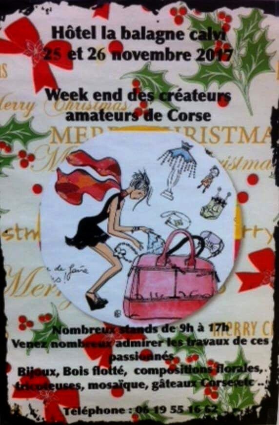 Week-end des créateurs amateurs de Corse les 25 et 26 novembre à Calvi