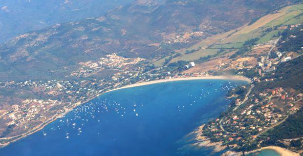 Golfe de Girolata, vu du ciel.
