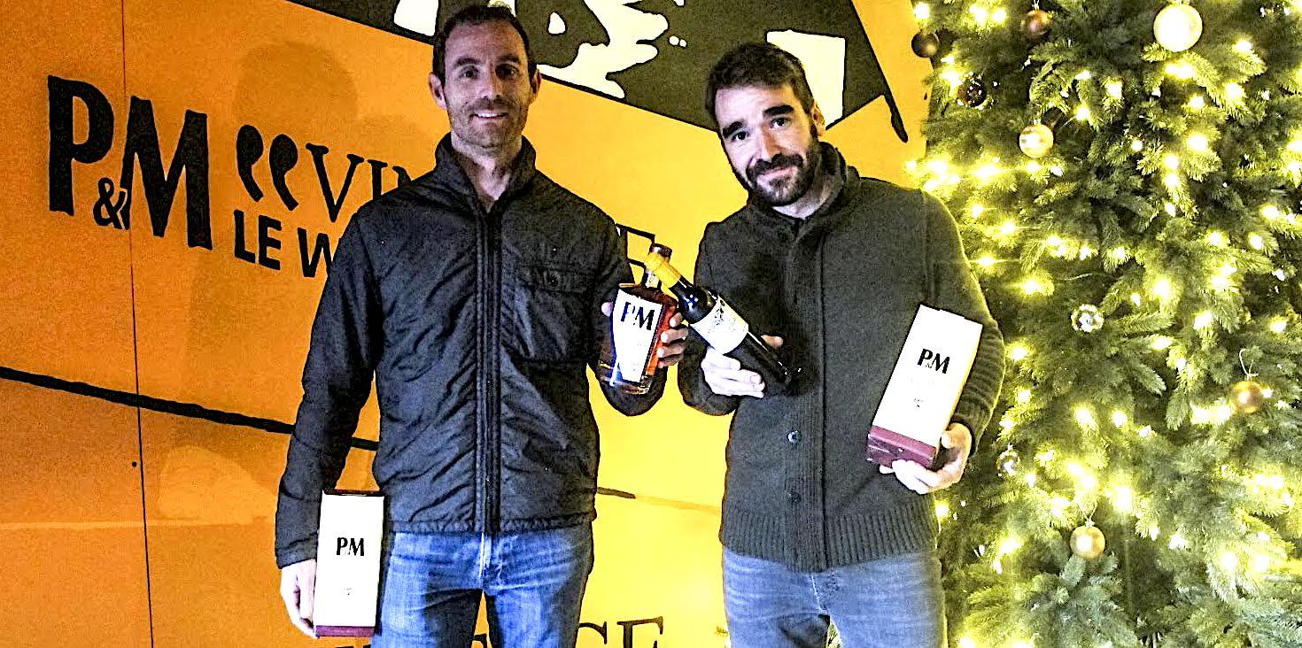 Stefanu Venturini (à gauche) et Alain Albertini présentent le « 1er Single Malt 12 ans »