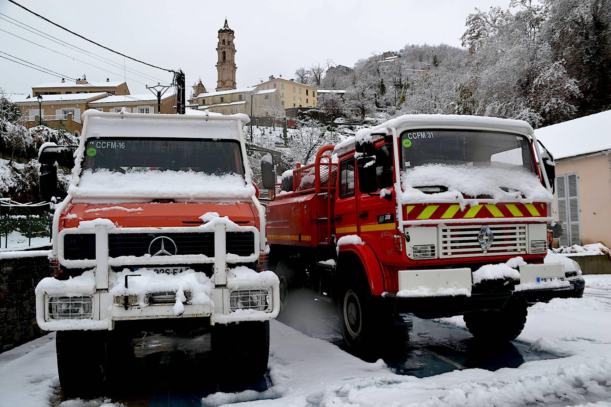 La Porta sous la neige (Photos Michèle Maestracci)