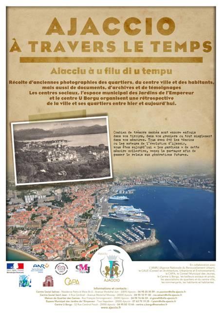 "Opération ""Ajaccio à Travers le Temps"" Aiacciu à u filu di u tempu  Ajaccio se raconte... Grande récolte de photos, documents et archives sur Ajaccio"