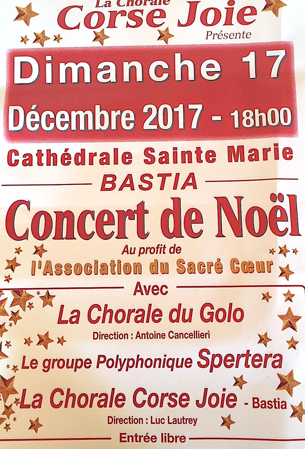 """Bastia : Concert de Noël au profit de l'association """"La Maison du Sacré Coeur"""