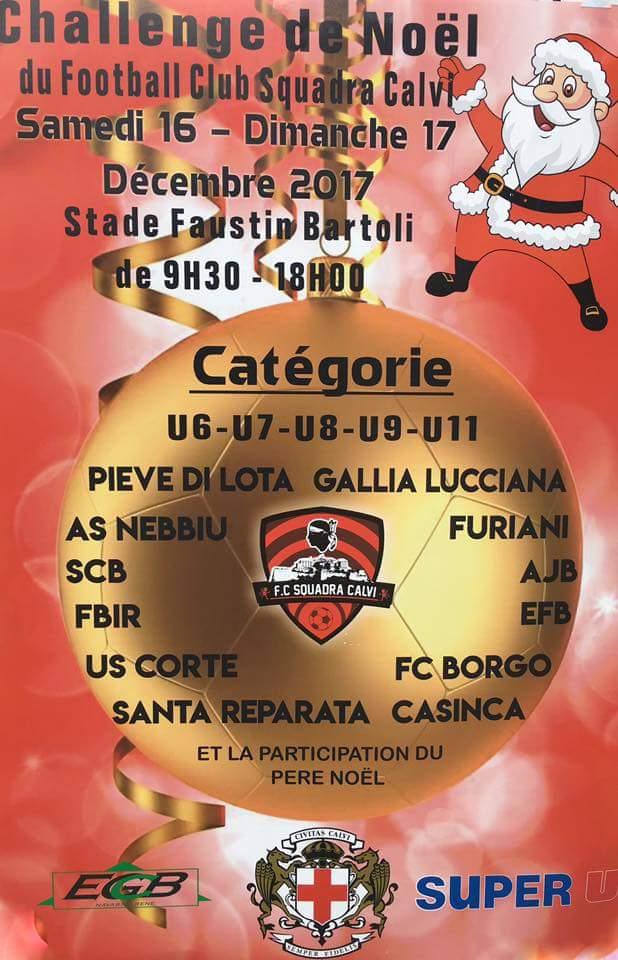 Coup d'envoi samedi du challenge de Noël du Football Club Squadra Calvi