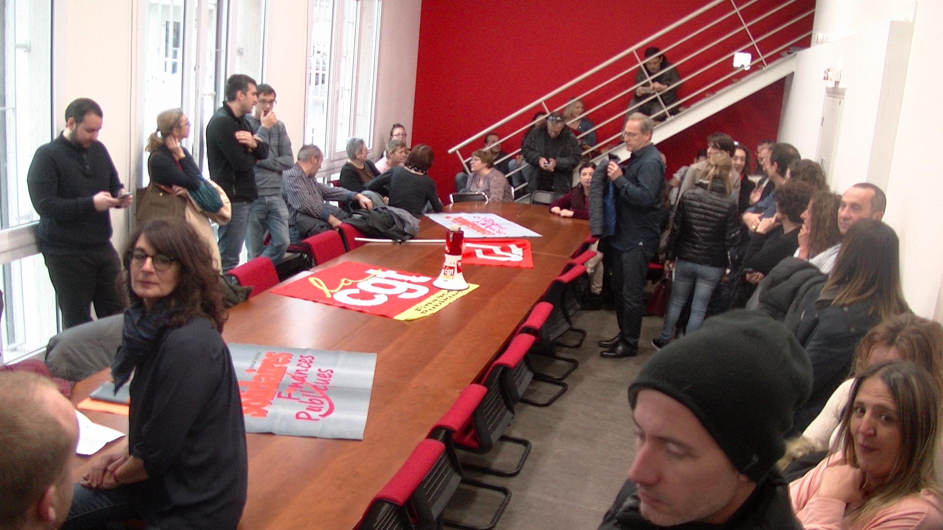 Bastia : Les agents des Finances publiques manifestent