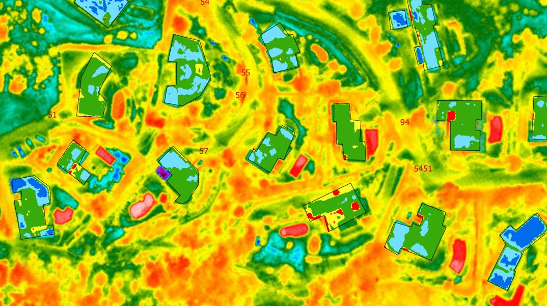 Carte therrmique du cadastre