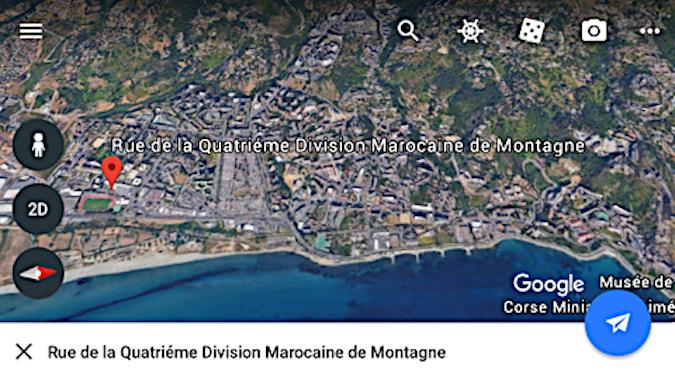 Bastia : Il existe, déjà, une rue dédiée à la division marocaine de montagne !
