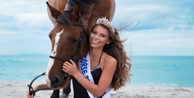 Eva Colas, première dauphine de Miss France, samedi à l'Atrium