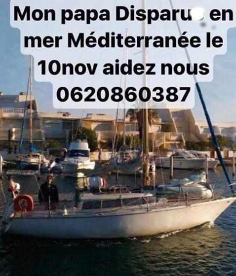 Voilier parti de Port-Camargue disparu en Méditerranée : L'appel de la famille
