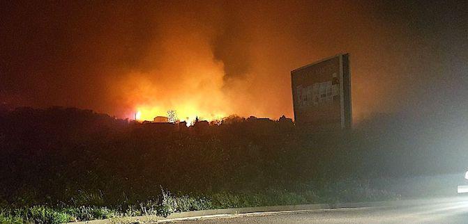 Les flammes progressent à vive allure sur la route de Taglio-Isolaccio.