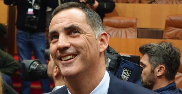 Gilles Simeoni, président de la Collectivité unie de Corse.