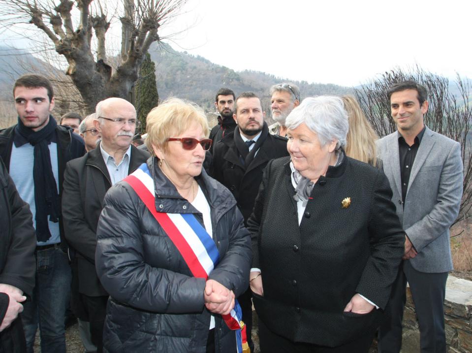 Pancrace Maurizi et Jacqueline Gourault.