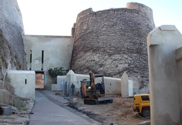 Importants travaux de restauration de la citadelle de Calvi : Accès réglementé