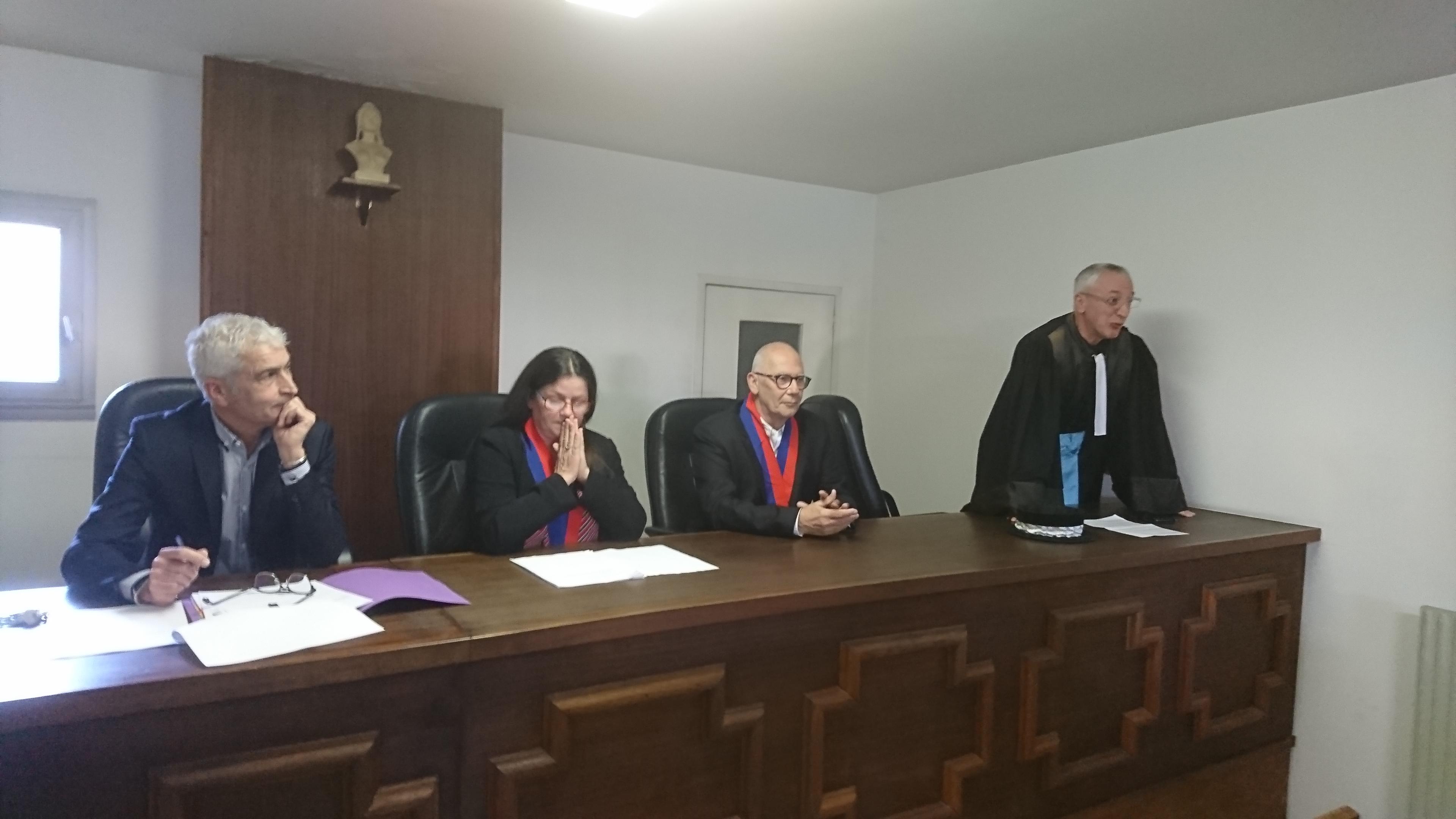 Audience de rentrée du Conseil des prud'hommes d'Ajaccio, ce mercredi après-midi.