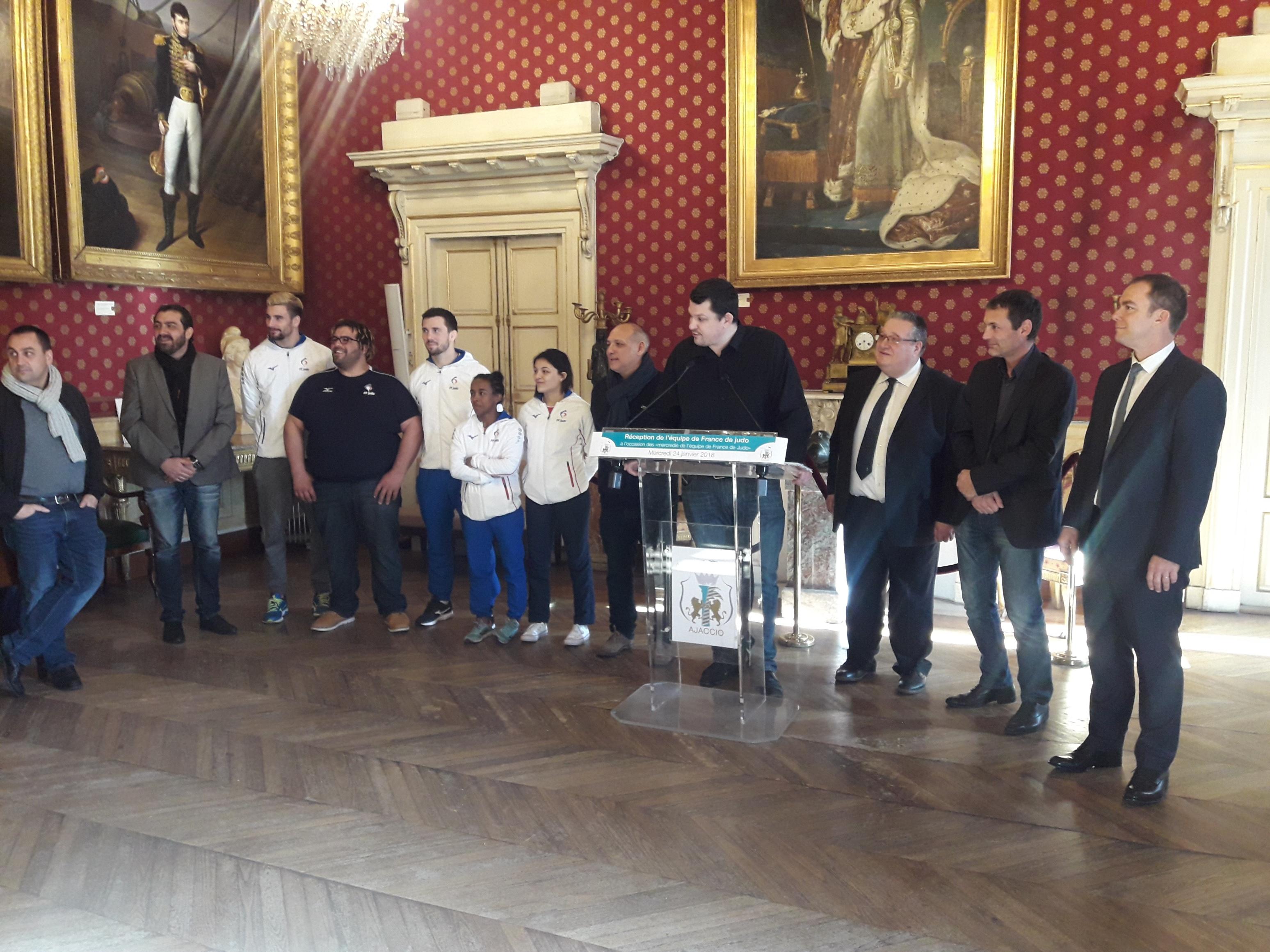 Judo: L'équipe de France reçue à l'Hôtel de Ville