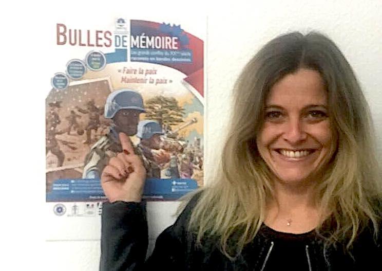 Angélica Catellaggi coordonnatrice mémoire et communication de l'ONACVG de Corse