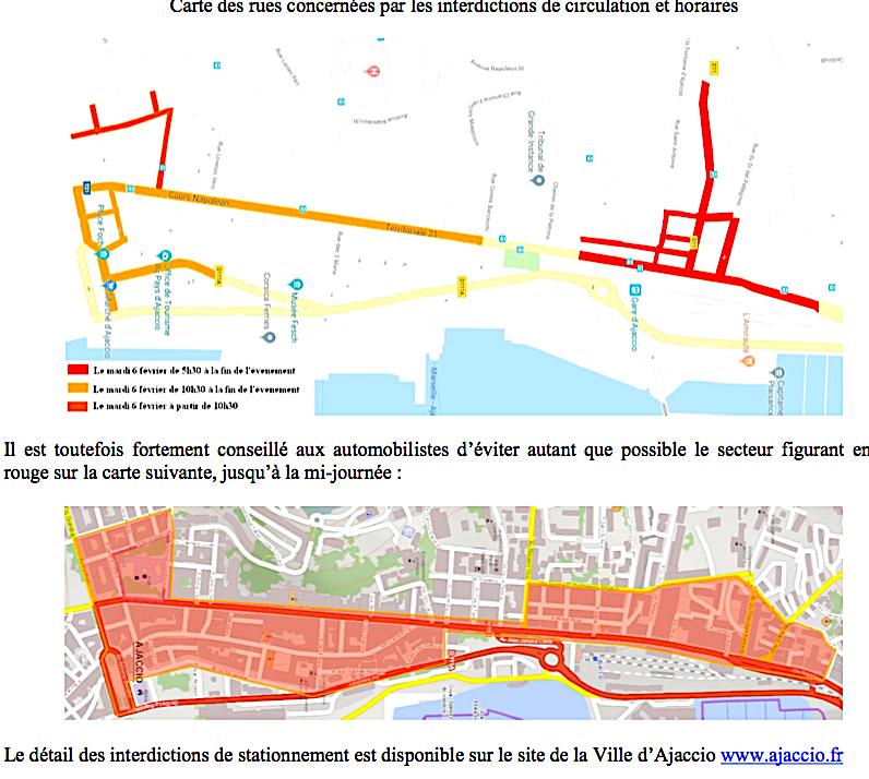 Cérémonie d'hommage à Claude Erignac : Restrictions de circulation à Ajaccio