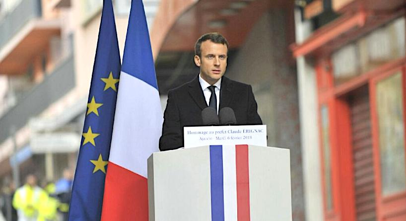 Le discours d'Emmanuel Macron à Ajaccio