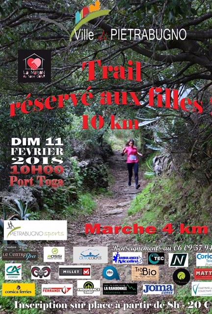 La 3e édition du Trail réservé aux filles revient le dimanche 10 février à Ville-di-Pietrabugno