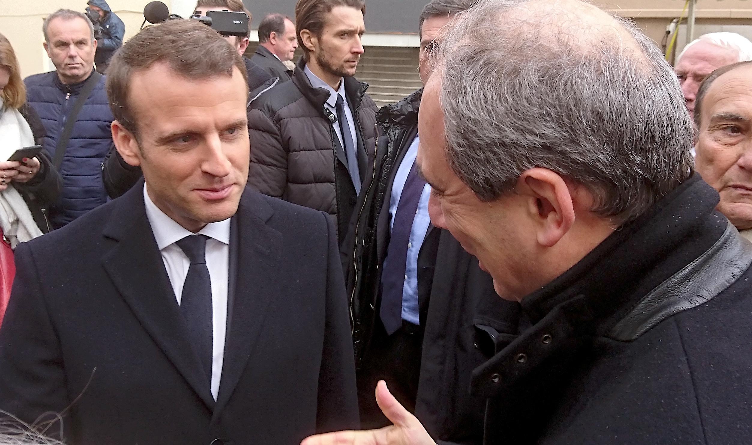 Jean Zuccarelli avec Emmanuel Macron