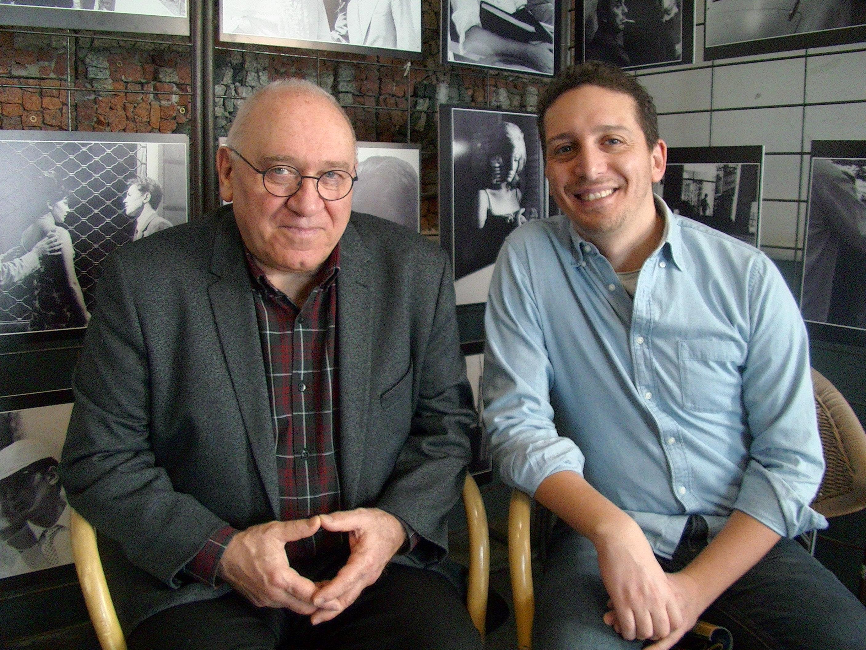 Le réalisateur Fabio Mollo, à droite, en compagnie de Oreste Saccheli, animateur du Festival