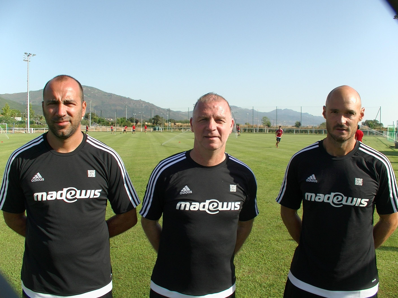 Christophe Taine, au centre, était arrivé en Corse en juillet dernier