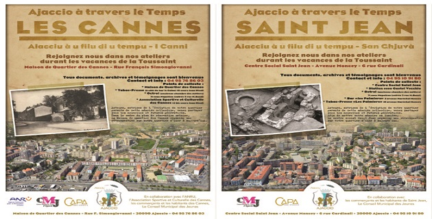 """Ajaccio à travers le Temps"" : Collecte de photos, témoignages et documents à Saint Jean et aux Cannes"