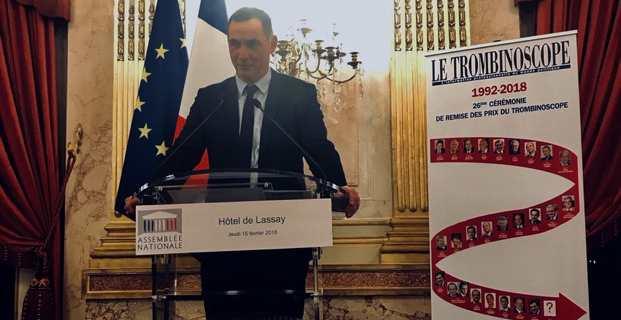 Gilles Simeoni, président du Conseil exécutif de la Collectivité de Corse, a reçu, à l'hôtel de Lassay, le prix Trombinoscope du meilleur élu local pour 2017.