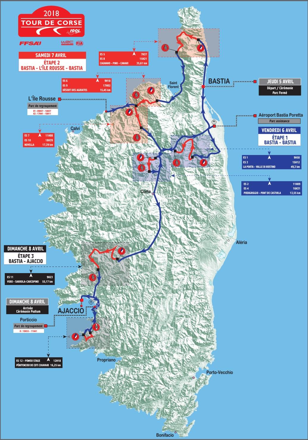 40 ans après Bastia redevient ville de départ  du Tour de Corse automobile