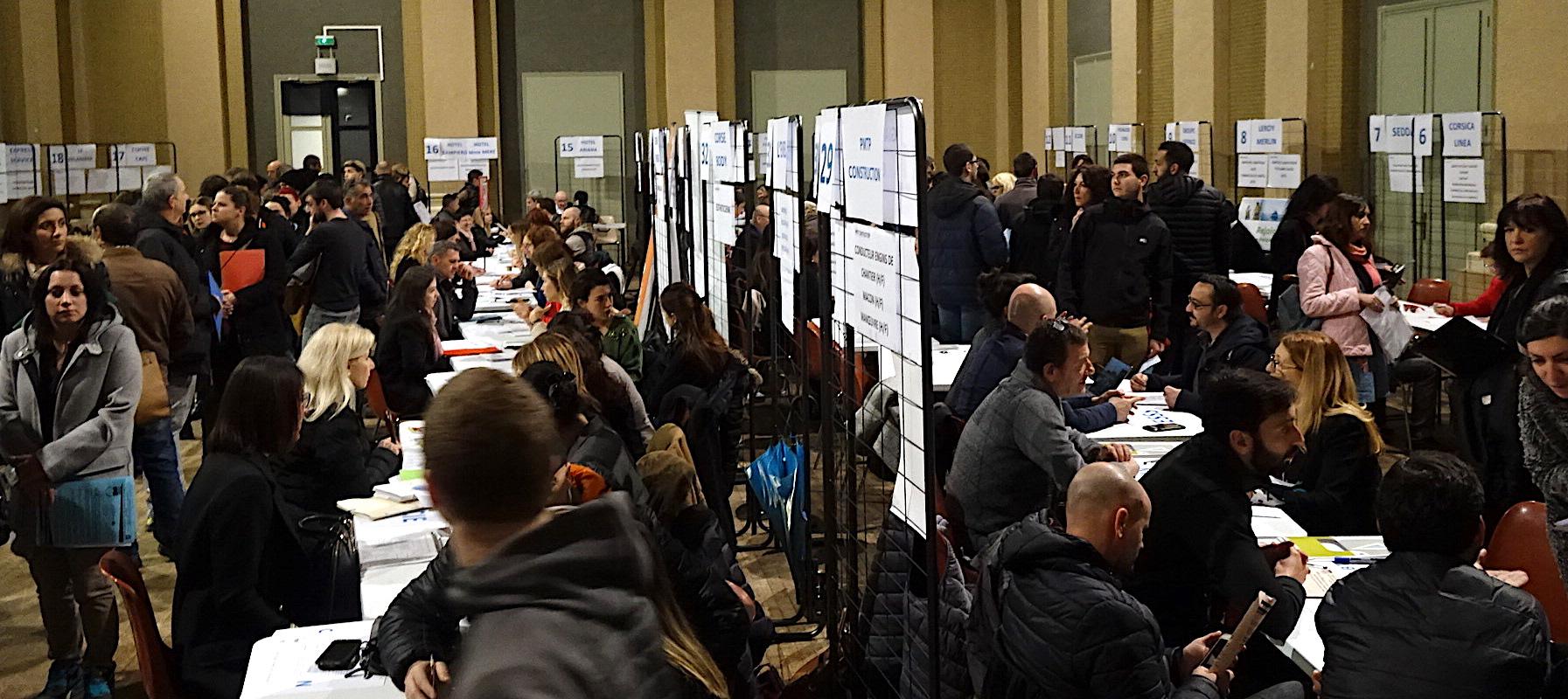 Bastia : La foule aux 20es Rencontres pour l'Emploi