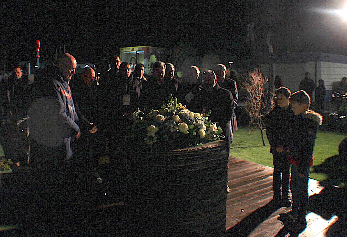 Bernard Laporte s'est recueilli devant la stèle de Furiani
