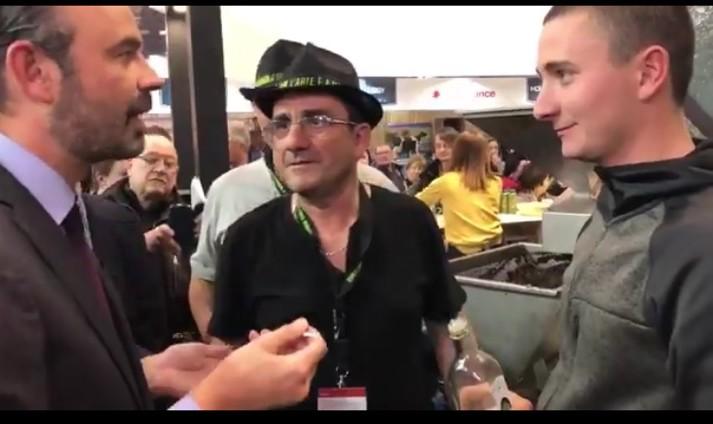 Edouard Philippe en discussion avec Thierry Cervoni et Jacques Castellani
